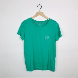 Ivory Ella | Green Tennis Graphic Back Tee Large